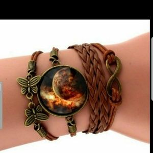 Classic Butterfly Bangles Bracelets Fashion Glass